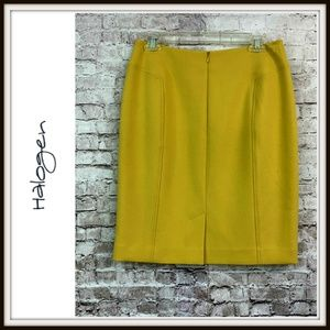 Halogen Skirts - Halogen Yellow Stretch Pencil Career Skirt